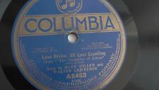 Reed Miller & Walter Lawrence - 78rpm single 12-inch - Columbia A5453