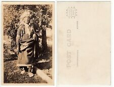 Indianer Häuptling Manitou,Native American Indian Chief  RPPC circa 1920