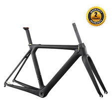 ICAN 700C Carbon Aero Road Bike Frameset 56cm Matt Adjustable Seatpost + Fork