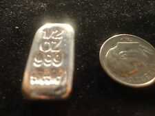 BAR-SILVER- 1/2 OUNCE- HAND POURED .999 SILVER- GREAT GIFT OR COLLECTIBLE