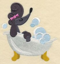 POODLE BATHTUB FUN SET OF 2 BATH HAND TOWELS EMBROIDERED by laura
