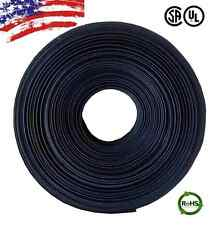 "10 FT. 10' Feet BLACK 3/8"" 9mm Polyolefin 2:1 Heat Shrink Tubing Tube Cable UL"