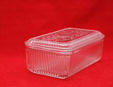 Vintage Clear Glass Anchor Hocking Refrigerator Dish With Lid