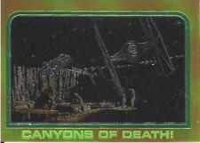 1999 Topps Star Wars Chrome Archives #39 Canyons Of Death!   Millennium Falcon