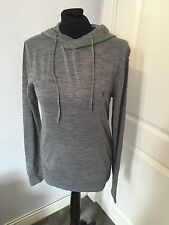 Men's All Saints Grey Mode Merino Wool Hoodie Size XS Worn Once