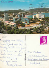 1980's PANORAMA OVER PALMA NOVA MALLORCA SPAIN COLOUR POSTCARD