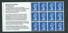 GB unused SG x855o, Scott MH36e 3p Wedgewood booklet pane MNH