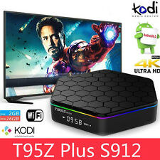 T95z PLUS s912 2gb+16gb Octa Core Android 6.0 TV BOX Kodi 17 2.4/5 GHz WIFI DUAL