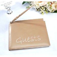 Guest Book With Pen Taupe Wedding Anniversary Party Graduation  B180*