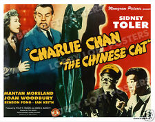 THE CHINESE CAT LOBBY TITLE CARD POSTER 1944 CHARLIE CHAN SIDNEY TOLER