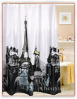 Shower Curtain Eiffel Tower Pattern made by PEVA 3E1