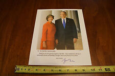 George and Laura Bush Color Photo Signed By W 8x10