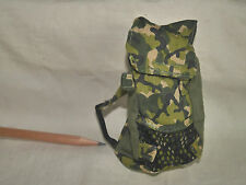 L056 Dollhouse Military Green Camouflage Backpack B Accessories Miniature Ken1:6