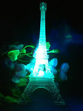 "9"" Multi-Color Eiffel Tower Desk Cake Topper Bedroom LED Lamp Night Light Decor"
