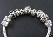 100pcs Lots Tibetan Silver Spacer Beads For European Charm Bracelet DIY Making