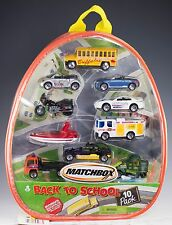 Matchbox Back to School 10 Pack of Cars Backpack 2001