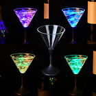 Flashing LED Wine Glass Light Up Barware Drink Cup Auto Color Changing 250ml HOT
