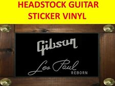 GIBSO LES PAUL REBORN SILVER HEADSTOCK STICKER VISIT MY STORE GUITAR CUSTOM