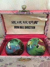"""EXERCISE STRESS BAODING BALLS RELAXATION THERAPY MOTHER W/KIDS HTF RARE 2"""""""