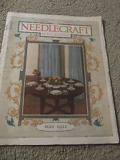 VINTAGE-MAY 1922 NEEDLECRAFT MAGAZINE-NICE ADS-CREAM OF WHEAT-UNIQUE GIFT