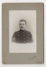 PHOTO - CABINET - Homme Militaire Uniforme - GEORGES - ORLÉANS - Vers 1900
