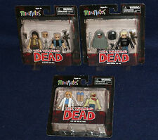 The Walking Dead MiniMates Series 4 Figure Set of 6 - Michonne, Governor, Zombie