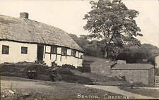 Burton near Neston. Black & White Cottages by F. Walker, Photographer.