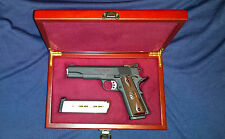 1911 Wood Display Case Presentation Box Colt Gold Cup Springfield Range Officer
