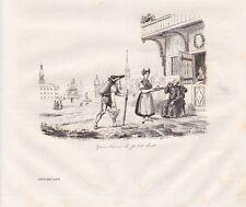 Gais - Cures de petit laite Ausserrhoden Suisse STAHLSTICH von 1835 Schweiz