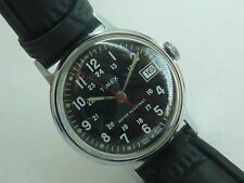 Vintage Military style Mechanical Timex 24 hr dial watch 1976