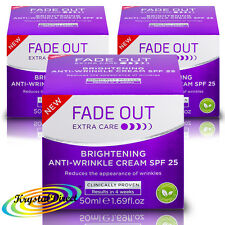 3x Fade Out cuidado extra brillante Anti Arrugas Crema Fps 25 - 50 Ml