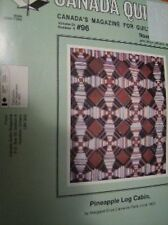 Canada Quilts Magazine November 1992 #96 Pineapple Log Cabin