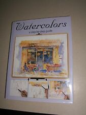 Watercolors A Step-By-Step Guide Barnes & Noble HC Book (N