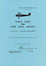 Pilot's Notes for Tiger Moth Aircraft by Royal Australian Air Force...