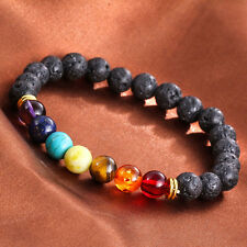 Special Lava Rock Beaded Stretch Yoga Gemstone Bracelets Mala Energy Bracelet