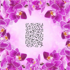 Leaves Pattern - 1, Airbrush Nail Stencil self-adhesive