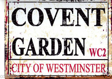 COVENT GARDEN LONDON  STREET SIGN VINTAGE STYLE 8x10in20x25cm pub bar shop