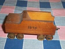 Older Wood Model Train Railroad Car 1893 1 7/8 Inch High