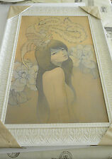 HER SECRET BIRD AUDREY KAWASAKI POSTER PRINT FRAMED EDITION OF /75