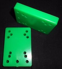 NOS vintage 80's O/S skateboard Green (2) generic truck rise pads 1/2 inch