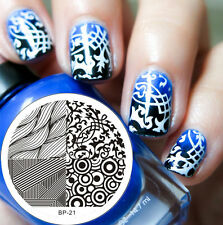 Nagel Schablone Nail Art Stamp Stamping Template Plates BORN PRETTY 21
