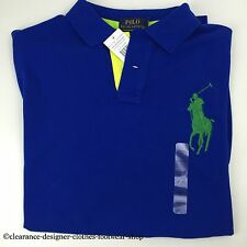 Ralph Lauren Polo Big Pony Nuevo Azul Polo Top T-shirt Tamaño Extra Grande Xl RRP £ 110
