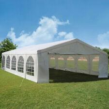 6x12m Heavy Duty PVC Marquee with GROUNDBAR Garden Gazebo Party Tent white