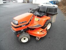 """KUBOTA G1800 DIESEL TRACTOR W/ 60"""" DECK BAGGER 3 POINT AND BACK BLADE"""