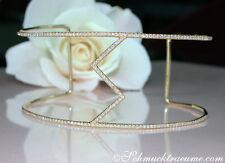 Blickfang: Extravaganter Diamanten Armreif / Armspange 0.59 ct W-SI1 GG750 4015€