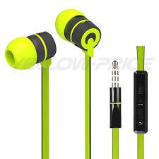 2014 New Style Stereo 3.5mm Jack Earbuds Earphones w/ Mic ON/OFF Earphone Green