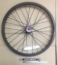 "Bike wheels,16"" (349x22) Weinmann alloy rim and 28H alloy hub, 110x12mm axle"
