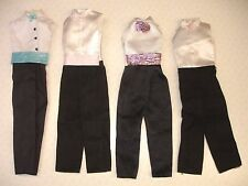 Mattel Barbie Ken Doll Tuxedo Trouser Shirt & Tie All In One Outfit Bundle