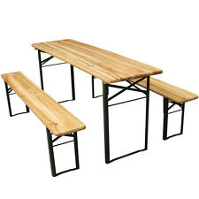 Trestle Bench Beer Table Picnic Camping Party Wooden Seat Fold Garden Furniture