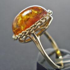 Goldring aus in 333 8 Karat Gold Bernsteinring Gelbgold Bernstein Amber Ring